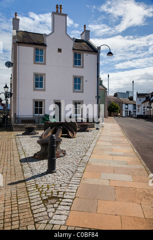 A house in the harbour of Irvine in Scotland - Stock Photo