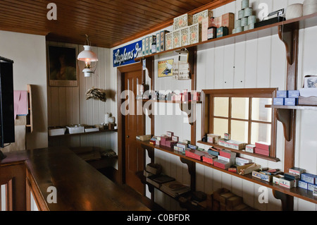 Inside of an old stationers shop from the early 20th Century - Stock Photo