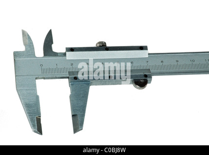 measuring tools used in mechanical engineering. isolated - Stock Photo