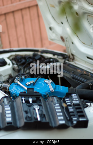 Car Repair, Mechanics Tools - Stock Photo