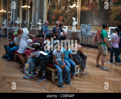 Versailles, France, Tourists Visiting French Art Museum, in 'Chateau de Versailles' - Stock Photo