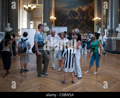 Versailles, France, Tourists Visiting French Art Museum, in Chateau de Versailles - Stock Photo
