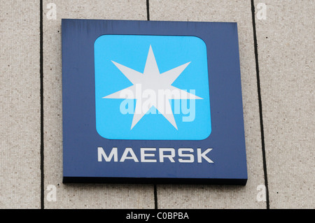 Maersk Shipping Company Sign Logo Aldgate London England Uk