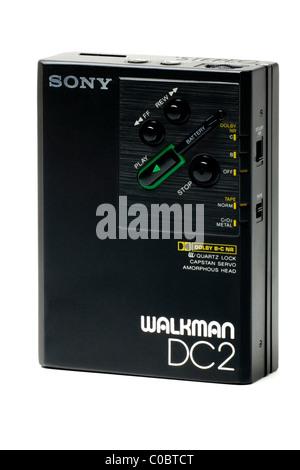 Sony Walkman personal Stereo Cassette Player Walkman Professional Player DC2 - Stock Photo