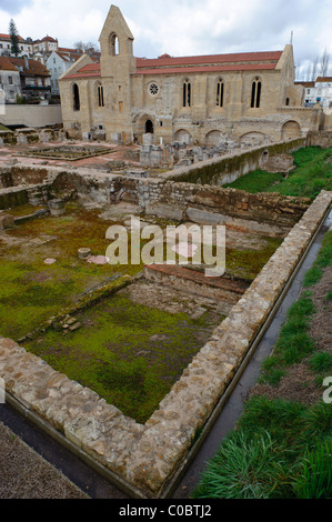 Santa Clara-a-Velha monastery in Coimbra, Portugal, Europe - Stock Photo