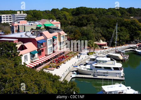 Harbour Town, Hilton Head Island, South Carolina, USA - Stock Photo