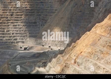 Scene from Kennecott Utah Copper's open pit mine, near Salt Lake City, Utah, one of the largest in the world. - Stock Photo