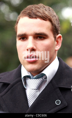 Bath and England rugby player Olly Barkley attends Aylesbury Crown Court for plea and case management regarding - Stock Photo