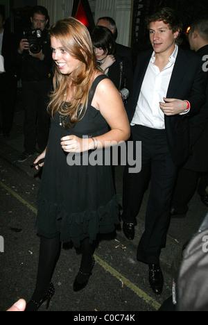 Princess Beatrice leaving Mahiki club London, England - 04.04.08 Will Alexander/ - Stock Photo