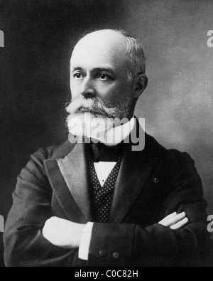 French physicist Henri Becquerel (1852 - 1908) - joint winner of 1903 Nobel Prize in Physics for his discovery of - Stock Photo