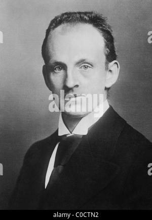 German dramatist and novelist Gerhart Hauptmann (1862 - 1946) - winner of the Nobel Prize in Literature in 1912. - Stock Photo