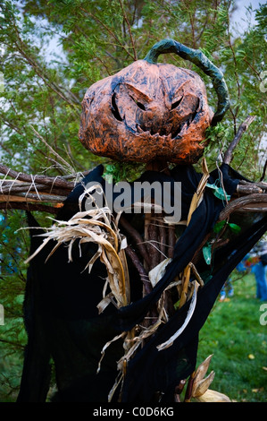 Halloween Scarecrow In A Corn Field At Summerset Farm