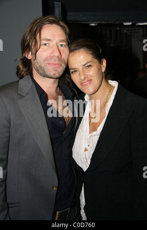 Artists Mat Collishaw and  Tracy Emin at the private view of 'Deliverance', an exhibition at space Spring Projetcs - Stock Photo