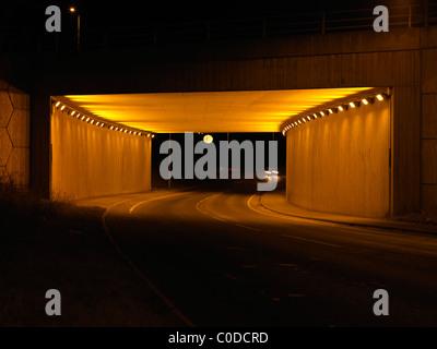 Moon under bridge on Aberford Road. Aberford - Stock Photo