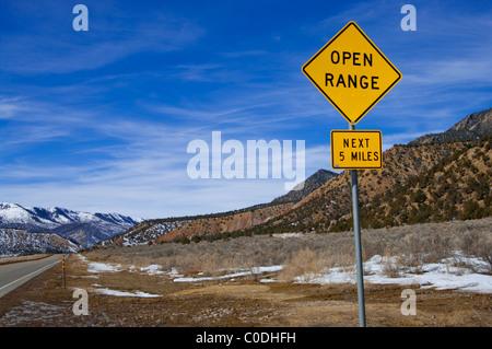 Open Range Sign - Stock Photo