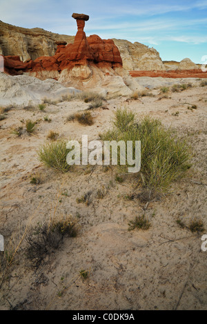 Wahweep Hoodoo (toadstool) in Grand Staircase Escalante National Monument, Utah - Stock Photo