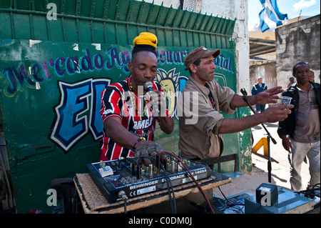 Street Rap artist Old Havana Cuba - Stock Photo