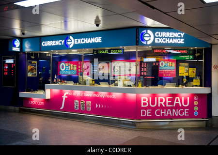 Ice bureau de change international currency exchange eurostar stock photo royalty free image - Gatwick airport bureau de change ...