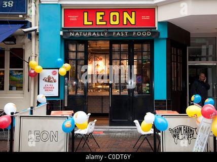 leon fast food restaurant in soho london stock photo royalty free image 52613012 alamy. Black Bedroom Furniture Sets. Home Design Ideas