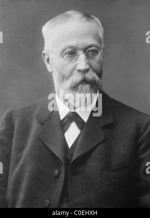 German inventor + physicist Karl Ferdinand Braun (1850 - 1918) - co-winner of 1909 Nobel Physics Prize with Guglielmo - Stock Photo