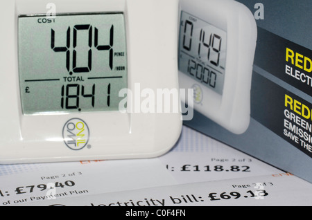 Owl electricity usage monitor, energy awareness - Stock Photo