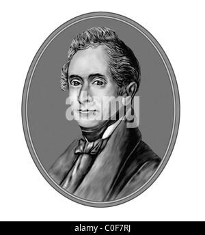 Joseph von Eichendorff 1788 1857 German Poet Novelist Critic Illustration from an Engraving - Stock Photo