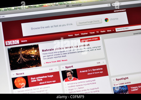 Screen Shot Of The Bbc News Web Site I Using The Explorer Web Stock Photo Alamy