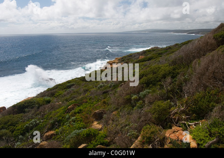 Indian Ocean coast near Margaret River, Southwest Western Australia - Stock Photo