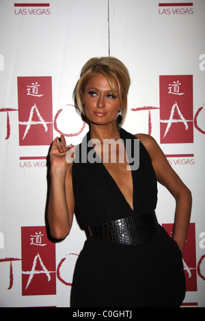 Paris Hilton hosts at TAO, as part of filming for her new MTV reality show Paris Hilton's My New BFF Las Vegas, - Stock Photo