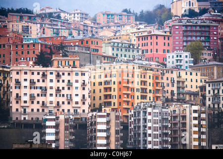 Detail of house in Genoa, Italy - Stock Photo