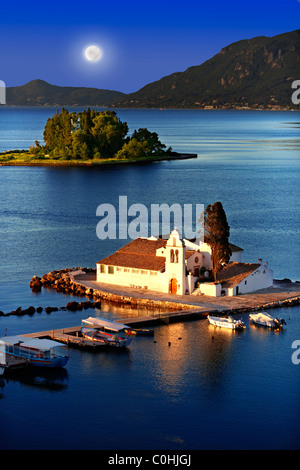 Greek Orthodox Convent of Vlachernas, Kanoni, Peninsula, Corfu Greek Ionian Islands. - Stock Photo