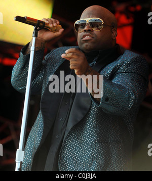 Cee Lo of Gnarls Barkley Performing live at Rosklide festival - Day Two Roskilde, Denmark - 04.07.08 - Stock Photo