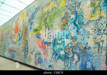 The four seasons mosaic by marc chagall is one of the for Chagall mural chicago