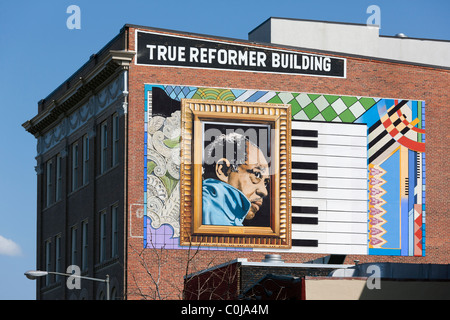 Painting mural music street art san francisco sf for Duke ellington mural