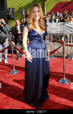 Gillian Anderson World Premiere Of The X Files 'I want to Believe' at the Grauman Chinese theater Hollywood, California - Stock Photo