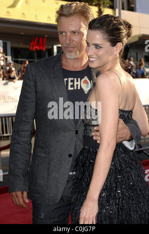 Callem Keith Rennie and Amanda Peet World Premiere Of The X Files 'I want to Believe' at the Grauman Chinese theater - Stock Photo