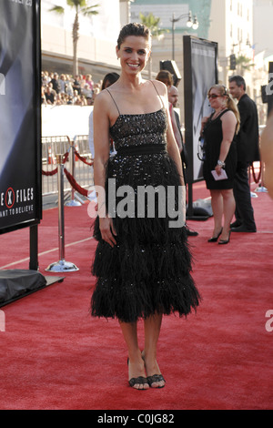 Amanda Peet World Premiere Of The X Files 'I want to Believe' at the Grauman Chinese theater Hollywood, California - Stock Photo