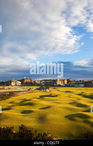 St Andrews from the St Andrews Links Clubhouse Fife Scotland - Stock Photo