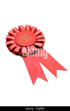 award presentation ribbon on white background - Stock Photo