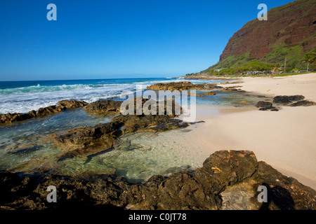 Ulehawa Beach Park, Nanakuli, Leeward Coast, Oahu, Hawaii - Stock Photo