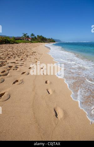 Aweoweo Beach Park, Waialua, Mokuleia, North Shore, Oahu, Hawaii - Stock Photo