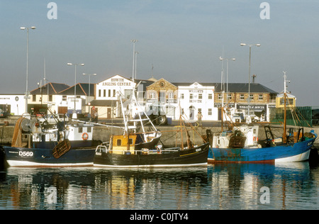 Motor fishing vessels at Howth harbour near Dublin Republic of Ireland Europe - Stock Photo
