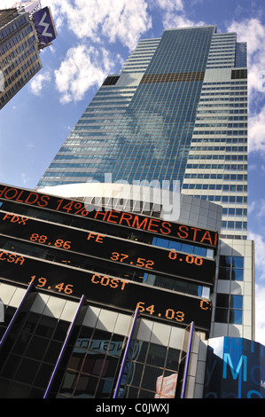 Morgan Stanley headquarters in Times Square in New York - Stock Photo