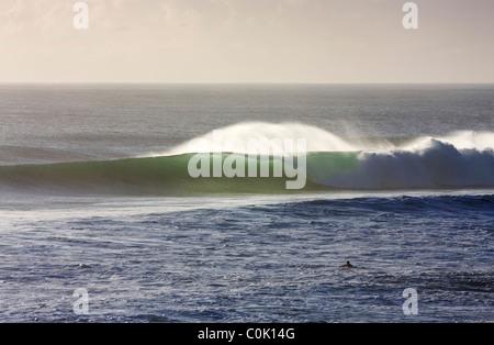 Early morning swell, Burleigh Heads Gold Coast Australia - Stock Photo