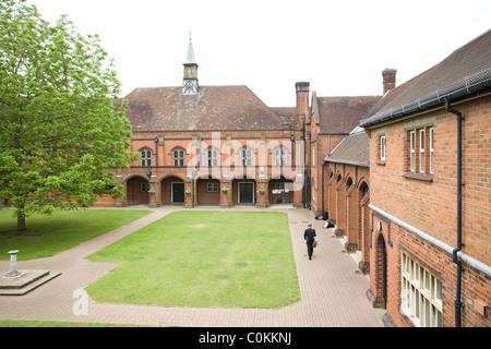 The quadrangle at Maidstone Grammar school in Maidstone, Kent, U.K. - Stock Photo