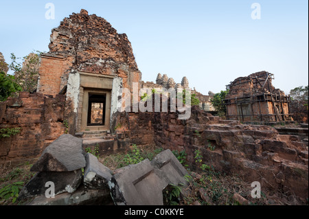 Phnom Bakheng, popular in Angkor as a temple to see at sunset. - Stock Photo