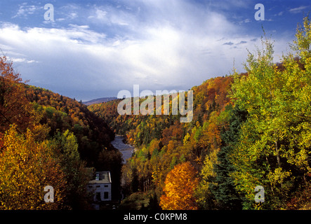 Les Sept-Chutes, waterfall, Saint-Ferreol-les-Neiges, Capitale-Nationale region, Quebec Province, Canada