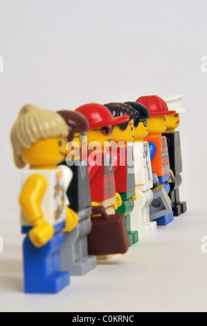 People persons men women professions trade crowd - Stock Photo