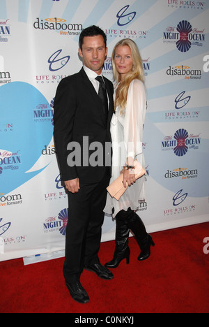 Jeffrey Donovan and guest Attends Life Rolls On Foundation's 'Night By the Ocean' held at Grand Ballroom at Hollywood - Stock Photo