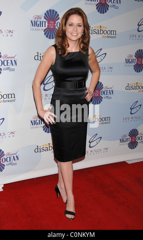 Jenna Fisher Attends Life Rolls On Foundation's 'Night By the Ocean' held at Grand Ballroom at Hollywood & Highland - Stock Photo